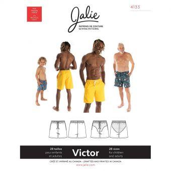Patron Jalie 4133 VICTOR- Short de baignade- Homme, Enfants Mixte