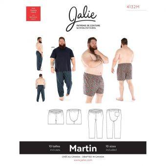 Patron Jalie 4132 MARTIN- Pantalon pyjama et caleçon boxeur- Homme, Enfants Mixte