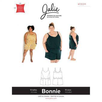 Patron Jalie 4130 BONNIE- Combi-short- Femme, Enfant fille