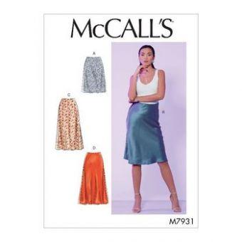 Patron Mc Call's 7931 - Jupe en biais  du 34 au 50