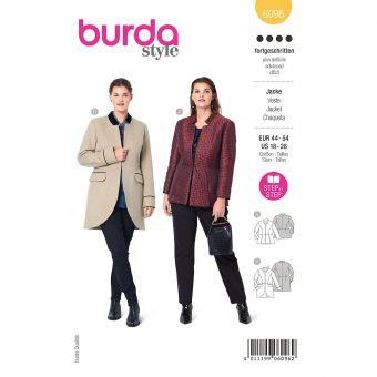 Patron Burda 6096 - Veste avec basque du 46 au 56