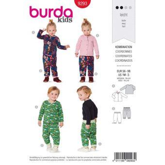 Patron Burda 9293 Ensemble bébé Veste & pantalon réversibles - du 56 au 98